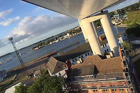 Rettungsübung in der Rügenbrücke