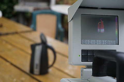 Thermographiebild Wasserkocher